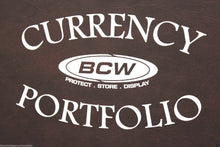 Load image into Gallery viewer, BCW Currency Album Portfolio 3 Pocket 10 Page BURGUNDY Banknote Holder Book Case
