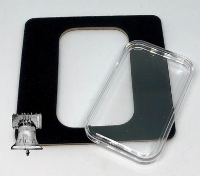 Air-tite Coin Holder Black Velvet Display Card Insert + Silver Gold Bar Capsule Case