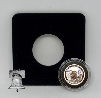 Air-tite Coin Holder Black Velvet Display Card Insert + Model A Capsule Case 10-19mm