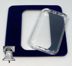 Air-tite Coin Holder Blue Velvet Display Card Insert + Silver Gold Bar Capsule Case