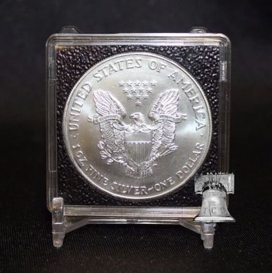 Coin Holder Snap Capsule Lighthouse QUADRUM INTERCEPT 2x2 Storage 14-41mm Case + Display Stand