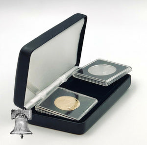 Coin Holder Capsule Q2 Display Box BLACK 14-41mm Quadrum Snaplock Lighthouse NOBILE Case