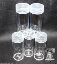 Load image into Gallery viewer, BCW Coin Holder Tube Plastic Storage Tubes Screw Cap