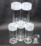 Assorted Coin Tube Round BCW Clear Plastic US Mint Variety 7 Size Tubes Case Penny to Large Dollar
