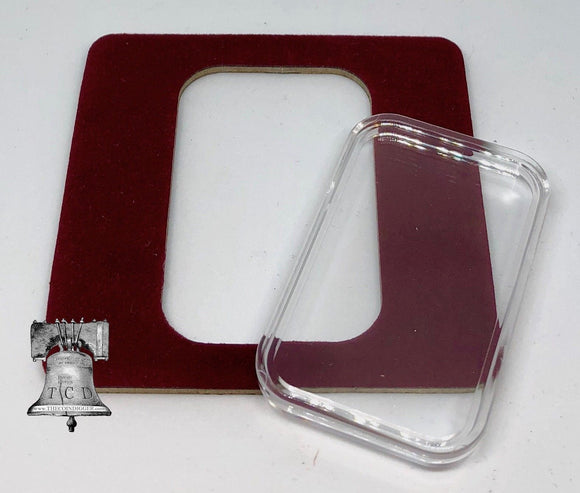Air-tite Coin Holder Red Velvet Display Card Insert + Silver Gold Bar Capsule Case