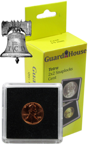 Guardhouse Tetra 2x2 Coin Holder Snap Lock 9 US Mint Sizes Capsule Case