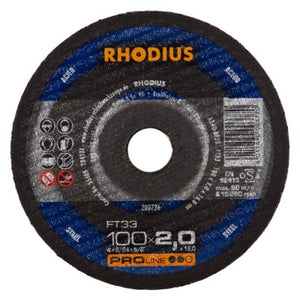 Rhodius FT33 Doorslijpschijf conventioneel