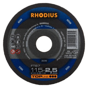 Rhodius FT67 Doorslijpschijf conventioneel
