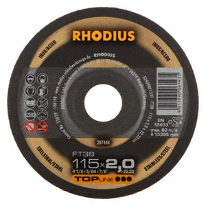 Rhodius FT38 Doorslijpschijf conventioneel
