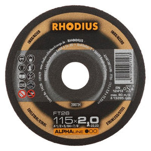 Rhodius FT26 Doorslijpschijf conventioneel