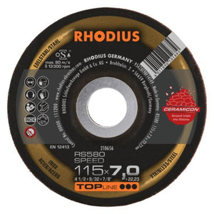 Rhodius RS580 Speed Grinding Disc - Weldingshop.nl