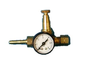 Karweifles regelaar Junior 0-4 bar met manometer - Weldingshop.nl
