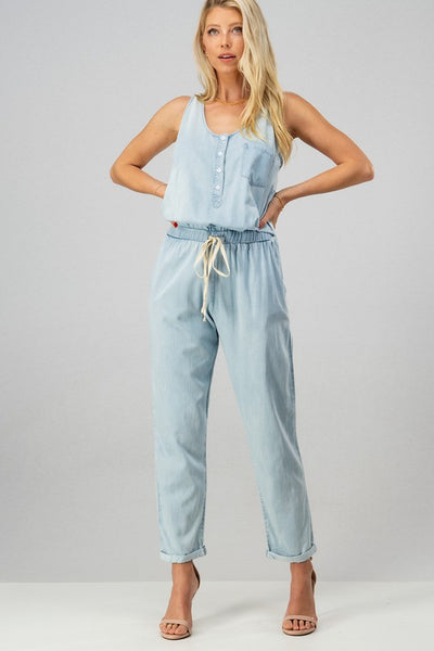 Chambray Jumpsuit