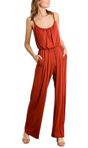 All Day Rust Jumpsuit