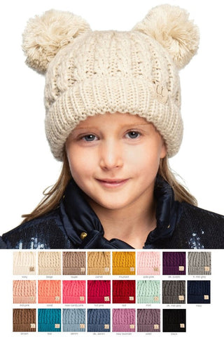 CC Toddler Double Pom Hat