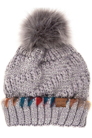 CC Yarn Accent Lined Hat