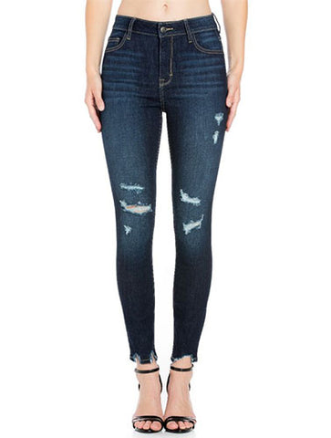 Cello Dark Distressed Skinny