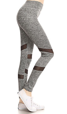 Charcoal Legging with Sheer Detail