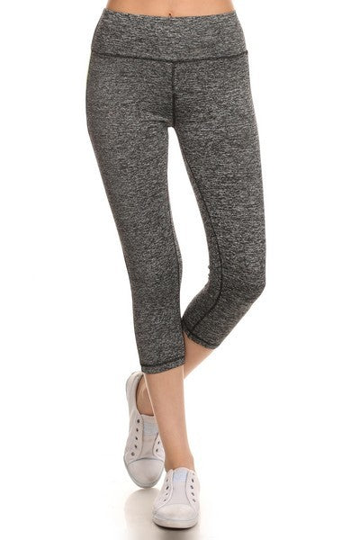 Charcoal & Neon Capri Leggings