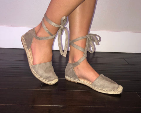 Clay Espadrille Strappy Flat