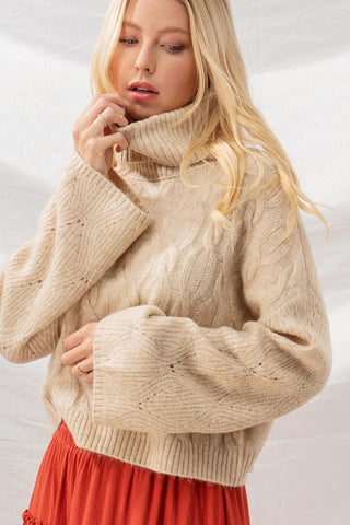 Cozy By The Fire Cable Knit Sweater