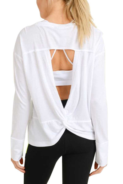 Cutout Twist Top