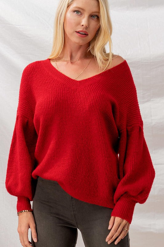 Effortless V-Neck Sweater