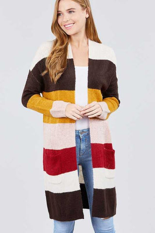 Fall Color Block Cardi