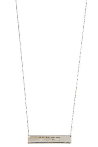 """Hope"" Bar Necklace"