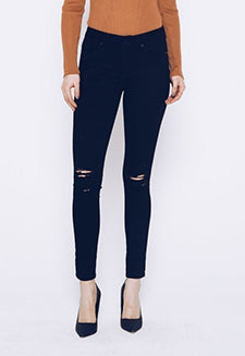 Kancan Black Distressed Skinny