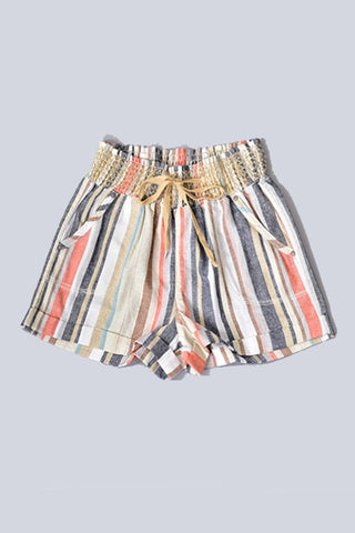 Linen Noha Striped Shorts