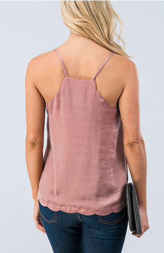 Mauve Scalloped Cami