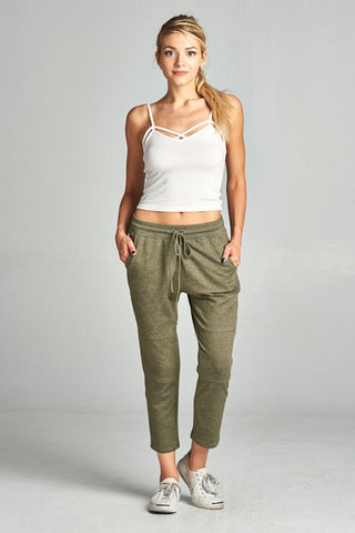 Olive Cropped Jogger