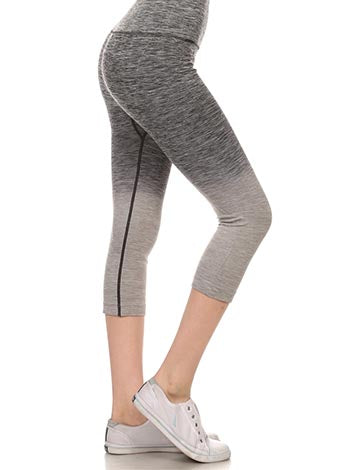 Charcoal Ombre Capri Leggings