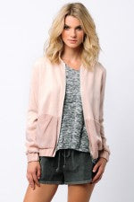 Powder Pink Bomber Jacket