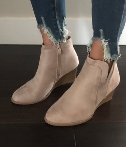 Slit Wedge Bootie