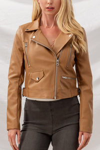 Take Me Out Faux Leather Jacket