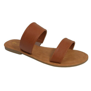 Tan Double Strap Sandal