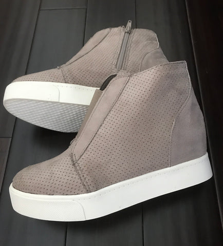 Taupe Wedge Sneaker