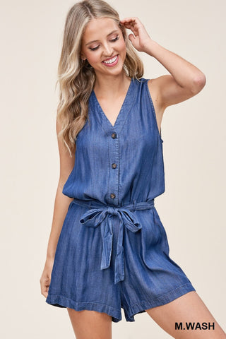 Timeless Denim Romper