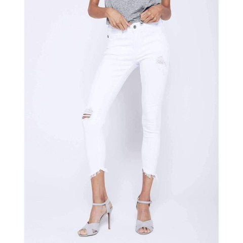 Kancan Cropped White Denim