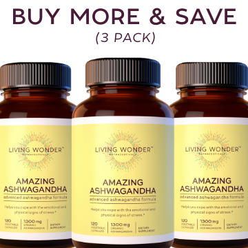 Amazing Ashwagandha! Buy More and Save (3 Bottles)