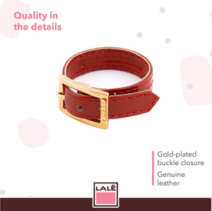 Bracelet 1V - Orange - LALE - LEATHER - BRACELETS