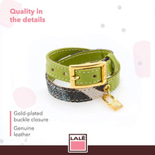 Load image into Gallery viewer, Bracelet 2V - Green - LALE - LEATHER - BRACELETS