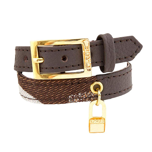 Bracelet 2V - Brown - LALE - LEATHER - BRACELETS