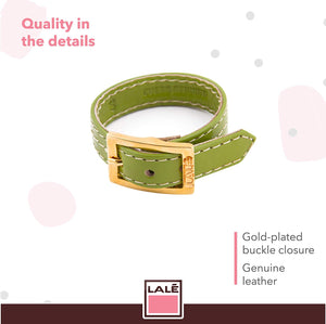 Bracelet 1V - Green - LALE - LEATHER - BRACELETS