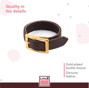 Bracelet 1V - Brown - LALE - LEATHER - BRACELETS