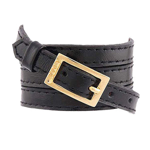 Bracelet 4V - Black - LALE - LEATHER - BRACELETS