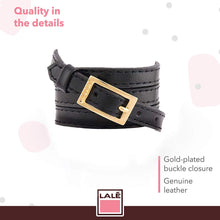 Load image into Gallery viewer, Bracelet 4V - Black - LALE - LEATHER - BRACELETS
