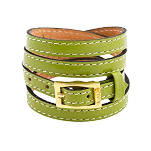 Bracelet 4V - Green - LALE - LEATHER - BRACELETS